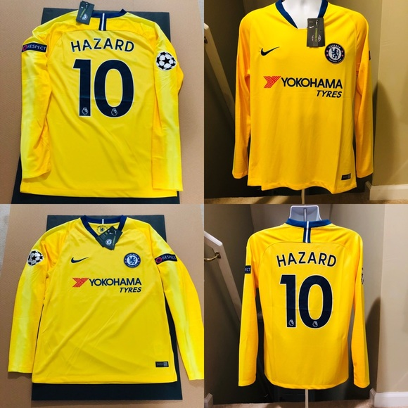 newest collection 0b22d db42e 2019 ⚽️ Chelsea Eden HAZARD #10 Soccer Jersey UEFA